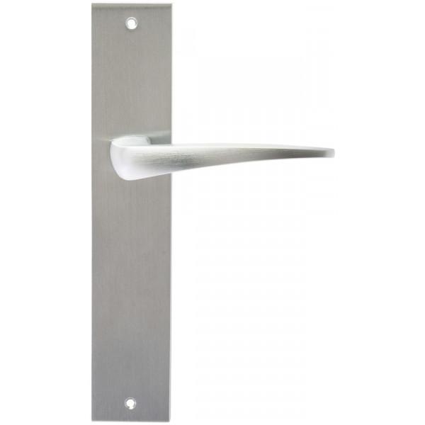 Дверная ручка Extreza Hi-Tech Odri (Одри) 103 на планке PL11 матовый хром F05