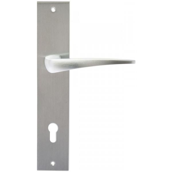 Дверная ручка Extreza Hi-Tech Odri (Одри) 103 на планке PL11 CYL матовый хром F05