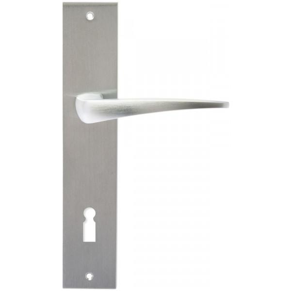 Дверная ручка Extreza Hi-Tech Odri (Одри) 103 на планке PL11 KEY матовый хром F05