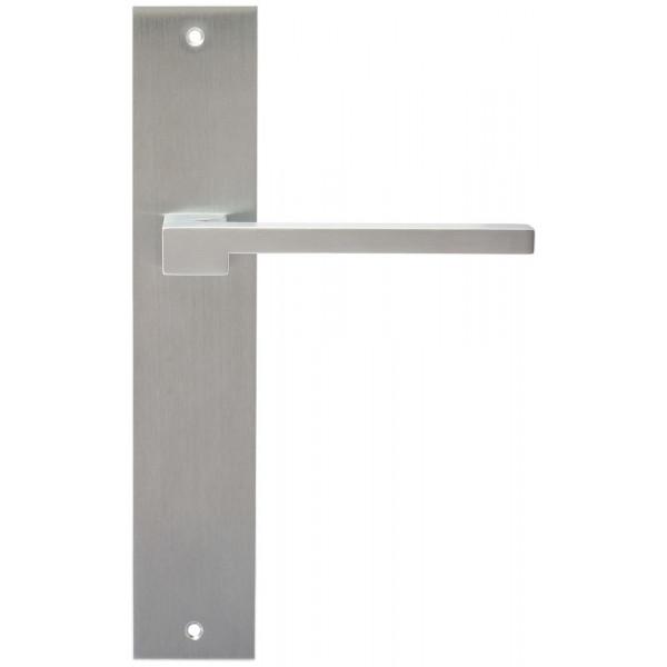 Дверная ручка Extreza Hi-Tech Riva (Рива) 104 на планке PL11 матовый хром F05