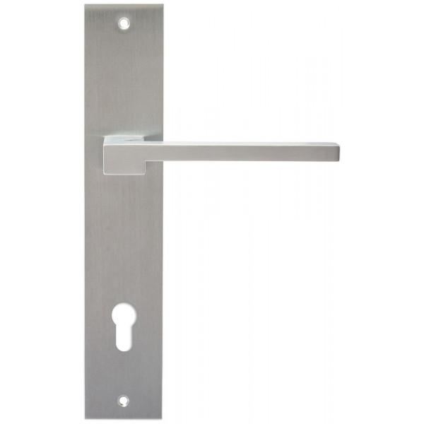 Дверная ручка Extreza Hi-Tech Riva (Рива) 104 на планке PL11 CYL матовый хром F05