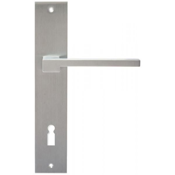 Дверная ручка Extreza Hi-Tech Riva (Рива) 104 на планке PL11 KEY матовый хром F05