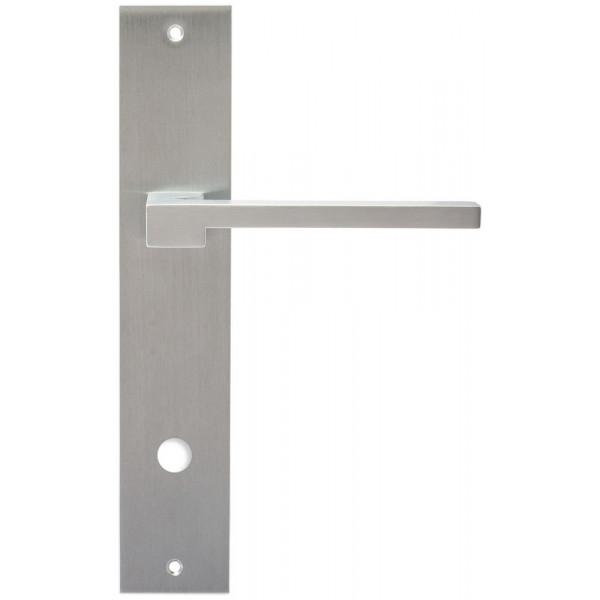 Дверная ручка Extreza Hi-Tech Riva (Рива) 104 на планке PL11 WC матовый хром F05