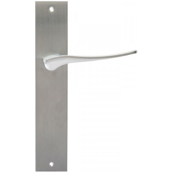 Дверная ручка Extreza Hi-Tech Monblan (Монблан) 105 на планке PL11 матовый хром F05