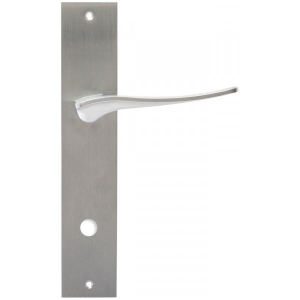 Дверная ручка Extreza Hi-Tech Monblan (Монблан) 105 на планке PL11 WC матовый хром F05