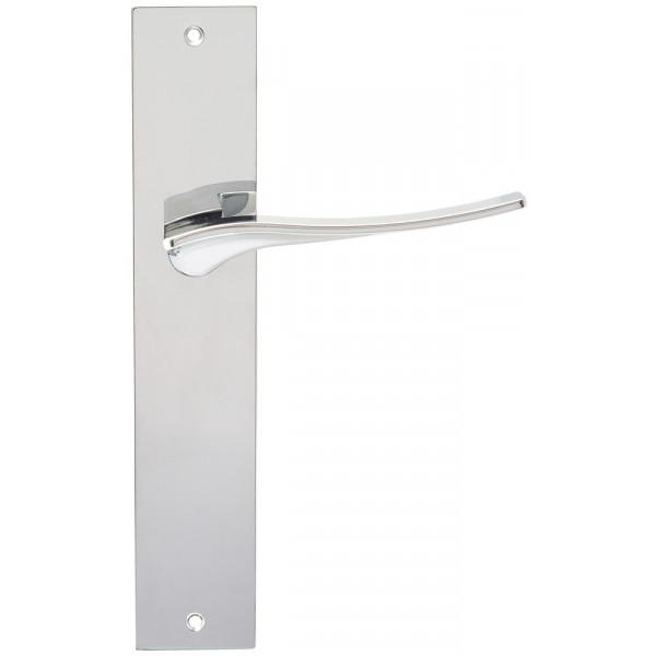 Дверная ручка Extreza Hi-Tech Monblan (Монблан) 105 на планке PL11 полированный хром F04