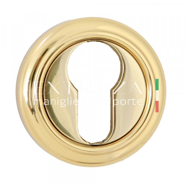 Накладка дверная Extreza CYL под цилиндр R01 полированная латунь F01